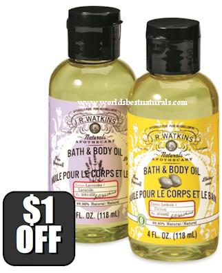 JR Watkins Bath Oils, J.R. Watkins Bath Oils,